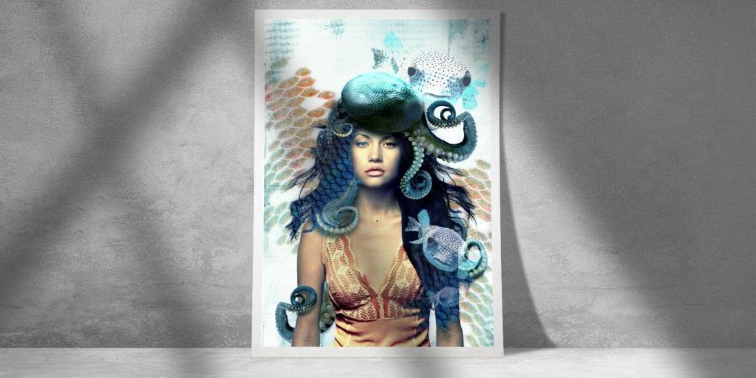 """Octopus pour le magazine """"Advanced creation"""""""