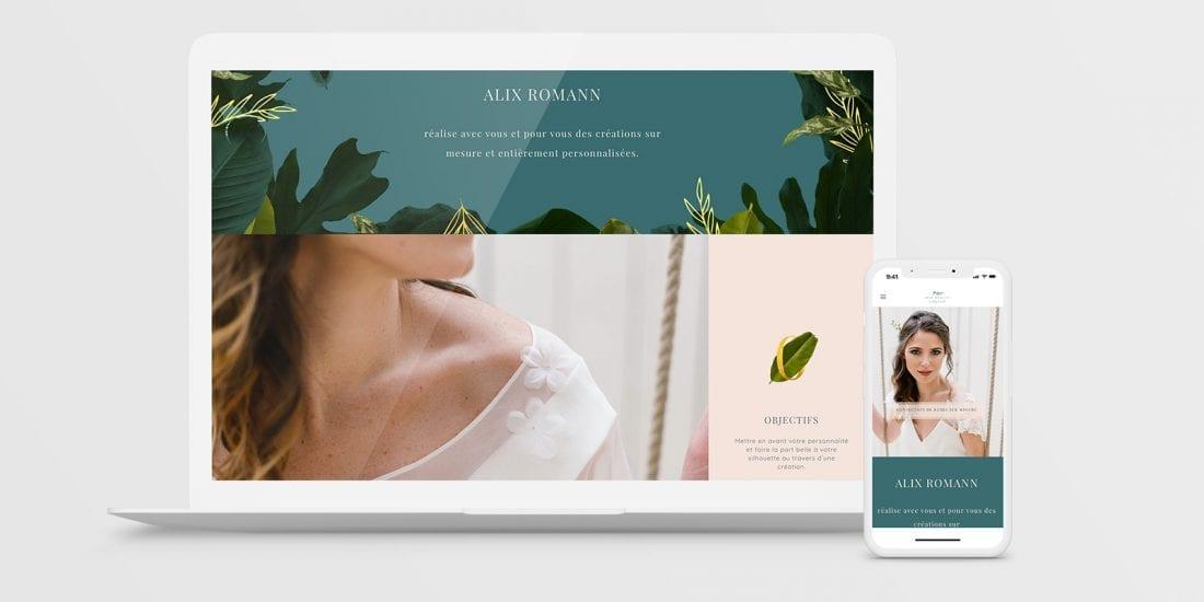 Alix Romann, Créatrice de robes de mariées - Site Web