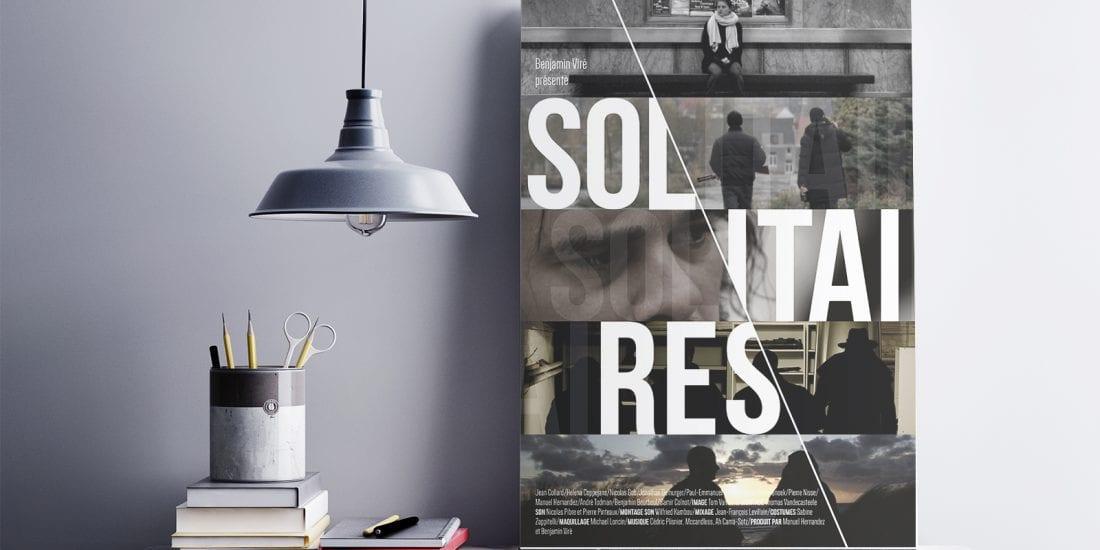 """Affiche du film """"Solitaires"""" de Benjamin Viré"""