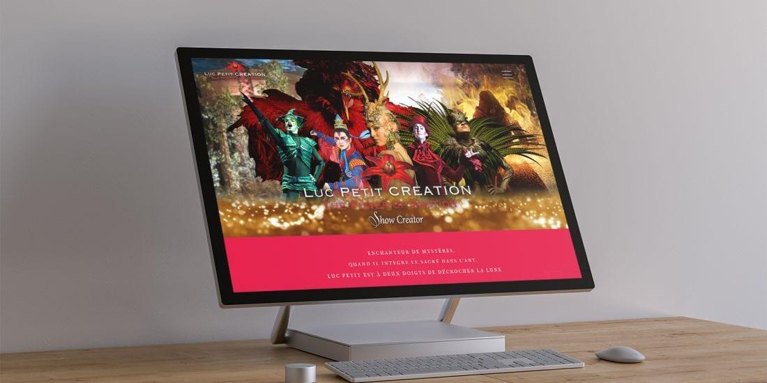 Luc Petit Création - Création Design Site Web
